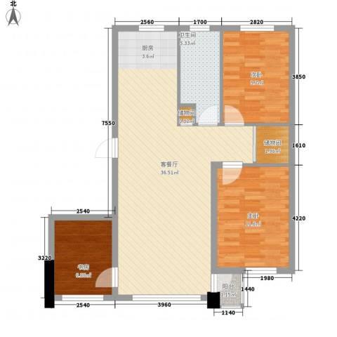 御泉华庭3室1厅1卫0厨103.00㎡户型图