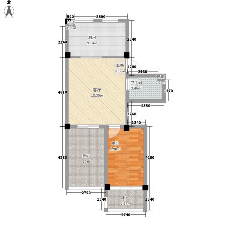 海林花园7.30㎡户型1室1厅1卫1厨
