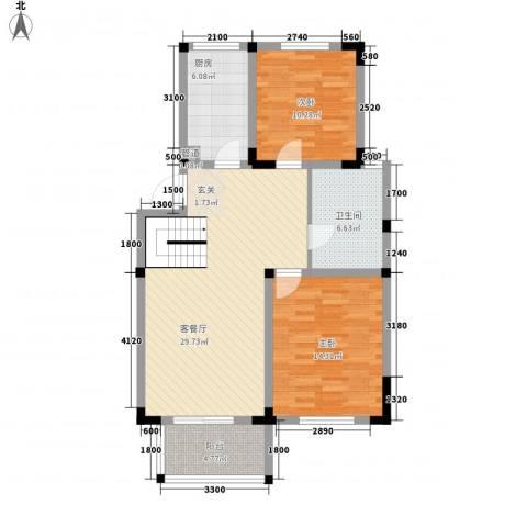 新市花园2室1厅1卫1厨81.93㎡户型图