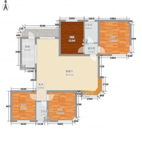 华夏奥韵4室1厅2卫1厨106.71㎡户型图