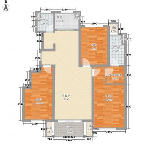 佰瑞廷3室1厅2卫1厨122.00㎡户型图