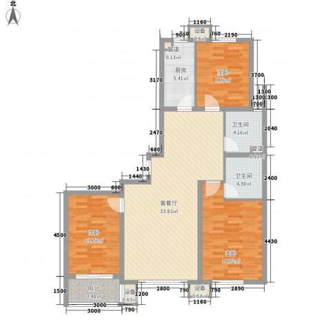 佰瑞廷3室1厅2卫1厨128.00㎡户型图