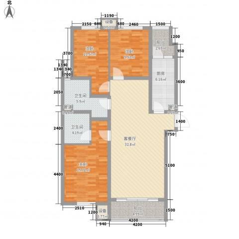 佰瑞廷3室1厅2卫1厨138.00㎡户型图