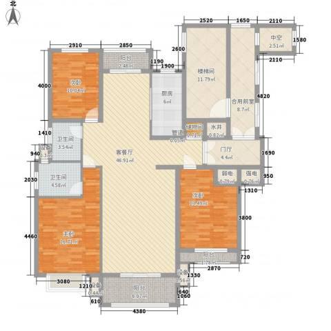 威尼斯水城别墅3室1厅2卫1厨208.00㎡户型图