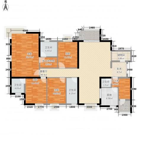 陶然豪园4室1厅4卫1厨199.00㎡户型图