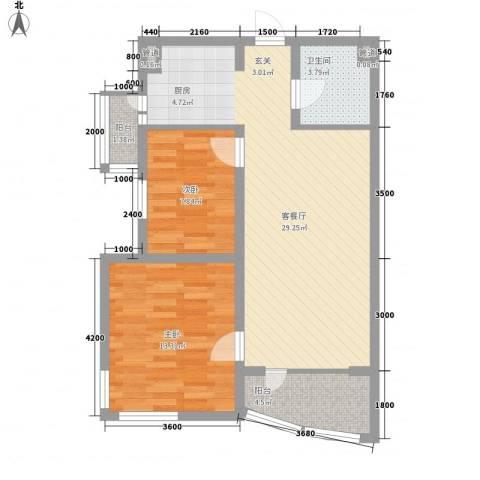 新新怡园二期2室1厅1卫0厨60.30㎡户型图