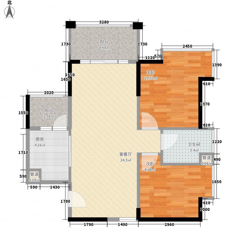 德昌盛景73.73㎡3栋1单元0户型2室2厅1卫1厨