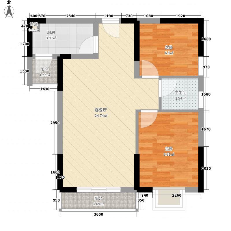 一城峰景一城峰景户型图二单元B单位3#27层2室2厅1卫1厨户型2室2厅1卫1厨