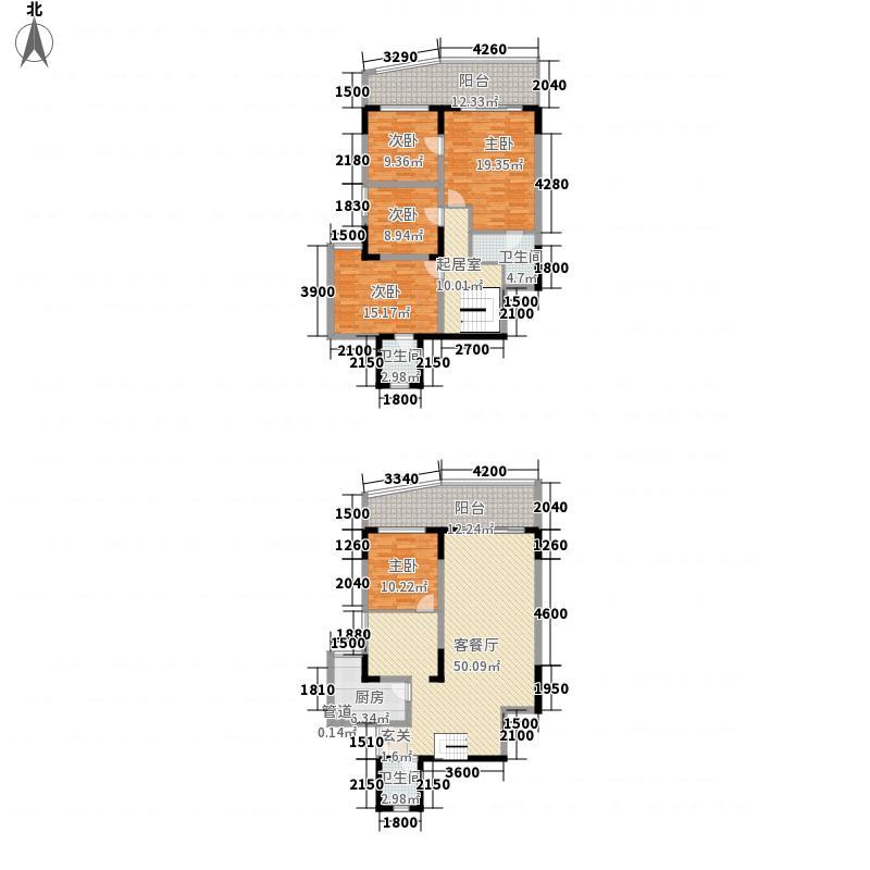 御景天下150.73㎡御景天下户型图E2复户型3室2厅2卫1厨户型3室2厅2卫1厨
