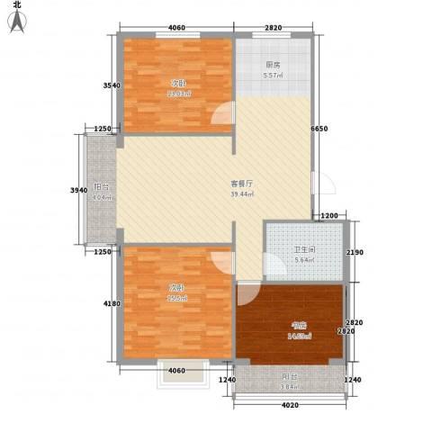 水岸茗苑3室1厅1卫0厨120.00㎡户型图