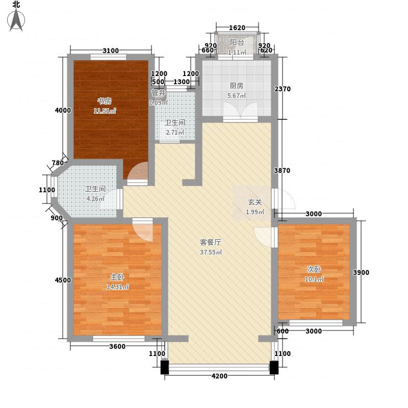 春江花月117.67㎡春江花月户型图3室2厅2卫户型10室