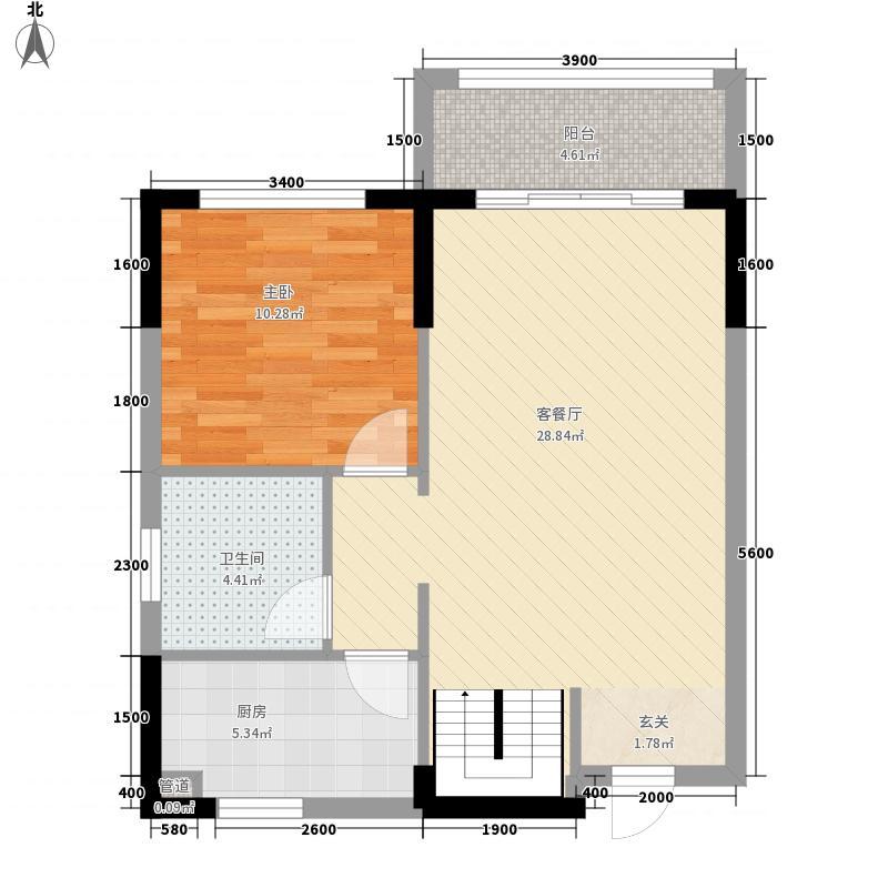 恒宇・海岸华府123.00㎡二期4栋03户型3室2厅2卫1厨