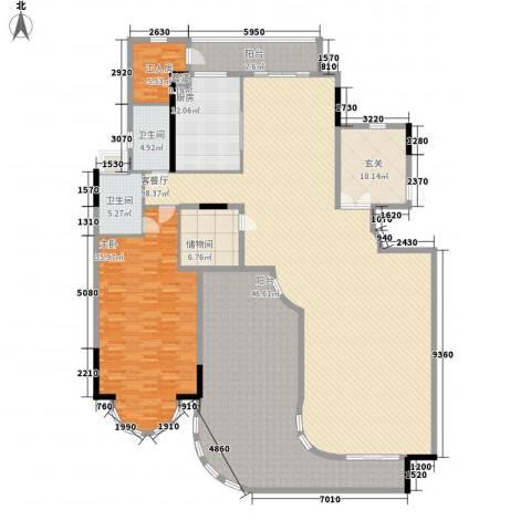 珠江御景湾1室1厅2卫1厨320.00㎡户型图