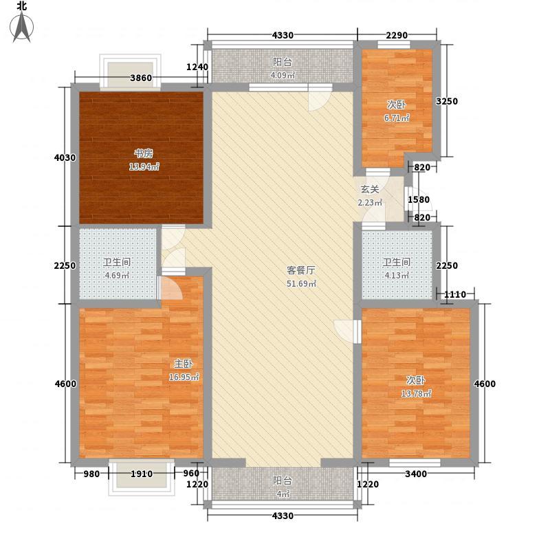 田森嘉园165.00㎡田森嘉园户型图A区4室2厅2卫1厨户型4室2厅2卫1厨