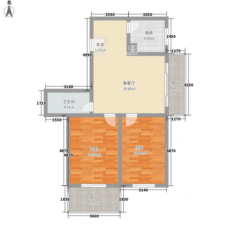 7080国际青年城109.38㎡A户型109.38㎡户型2室2厅1卫
