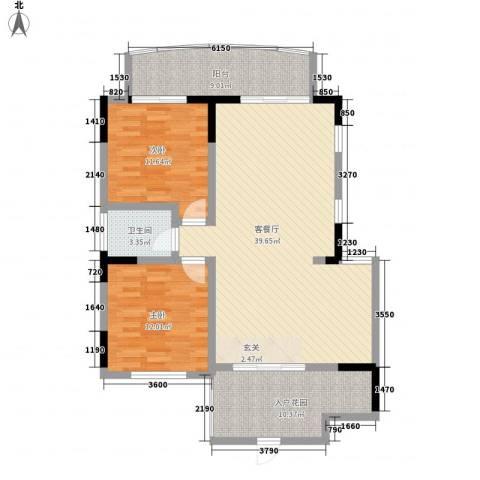 仁和香堤雅境2室1厅1卫0厨104.00㎡户型图