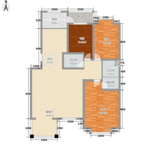 吉盛花园3室1厅2卫1厨188.00㎡户型图