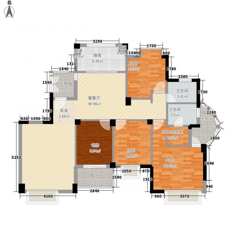 柏庄丽城152.31㎡高层3#楼C2户型4室2厅2卫1厨