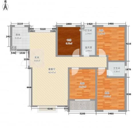 家合园二期4室1厅2卫0厨148.00㎡户型图