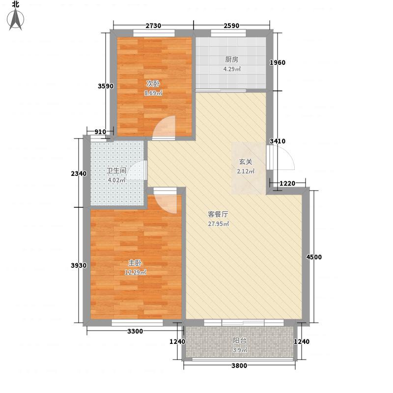 贵族人家78.00㎡贵族人家户型图2室2厅1卫1厨户型10室