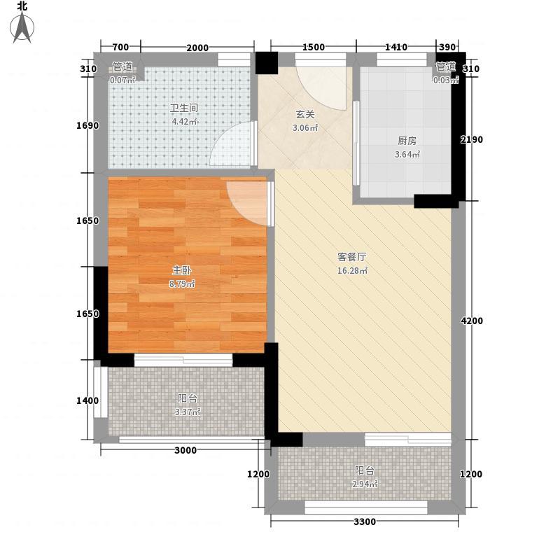 万达西双版纳国际度假区49.81㎡g2-2户型1室1厅1卫