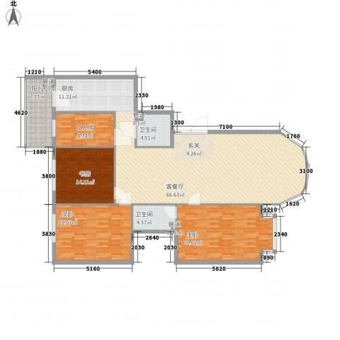 凯旋城3室1厅2卫0厨198.00㎡户型图