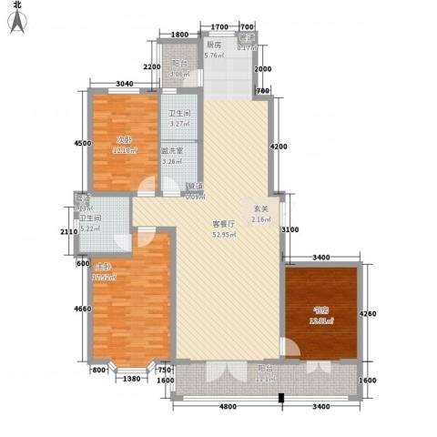 新新怡园二期3室1厅2卫0厨121.77㎡户型图
