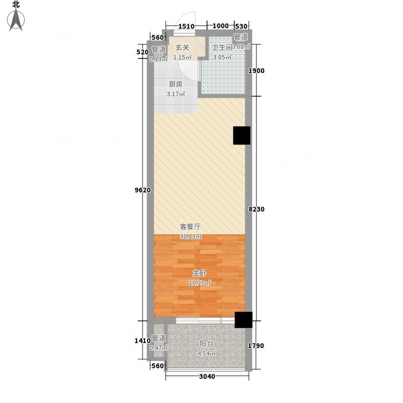 金润财富中心54.67㎡金润财富中心户型图1室2厅1卫1厨户型10室