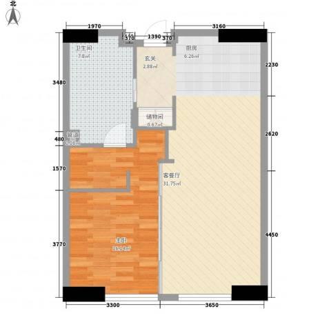 星光域1室1厅1卫0厨87.00㎡户型图