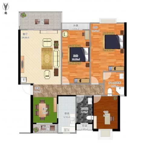半山家园3室1厅1卫1厨156.00㎡户型图