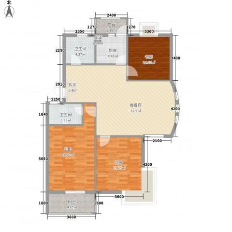 盛世嘉苑3室1厅2卫1厨112.00㎡户型图