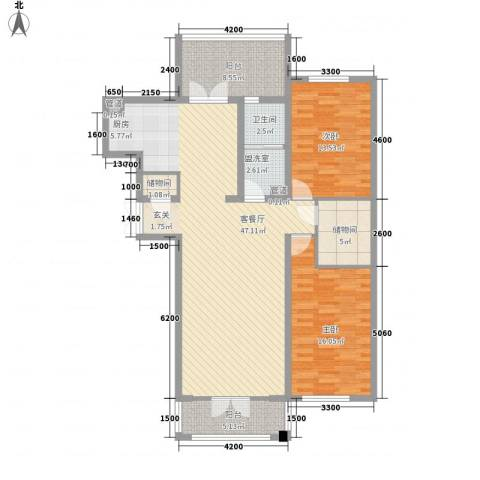 新新怡园二期2室1厅1卫0厨101.82㎡户型图