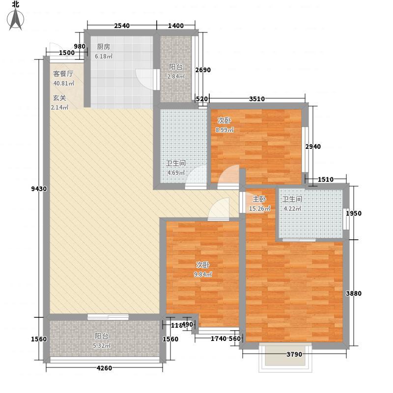 鸿瑞豪庭127.00㎡鸿瑞豪庭户型图B1户型3室2厅2卫1厨127平方米3室2厅2卫1厨户型3室2厅2卫1厨