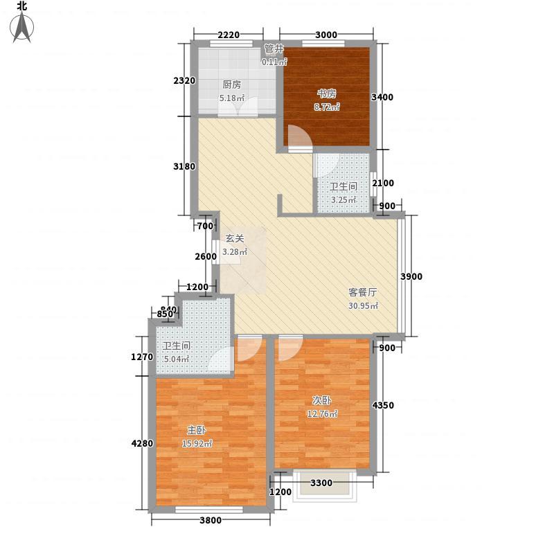滨湖家园117.00㎡户型