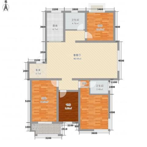 智雅茗苑4室1厅2卫1厨142.00㎡户型图