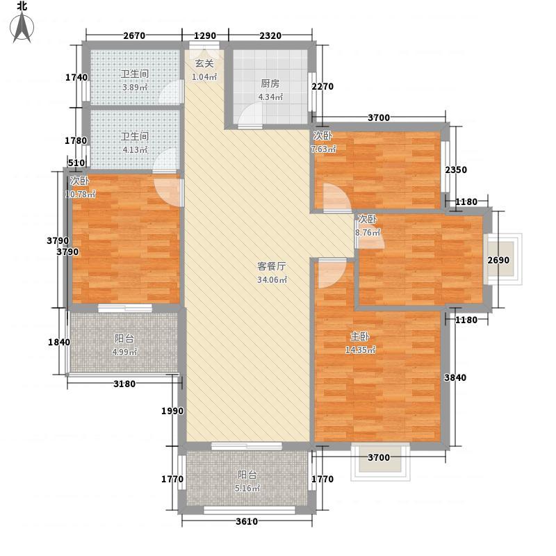 玉屏望郡137.31㎡玉屏望郡户型图1#A栋03单元2-8层3室2厅2卫1厨户型3室2厅2卫1厨