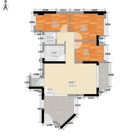 凯丰花园二期(逸园)3室1厅1卫1厨93.00㎡户型图