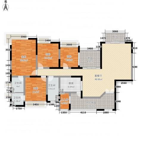新世纪星城三期4室1厅3卫1厨216.00㎡户型图