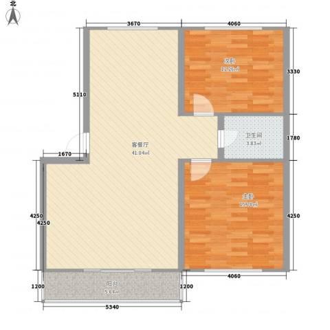 万盛佳园2室1厅1卫0厨110.00㎡户型图