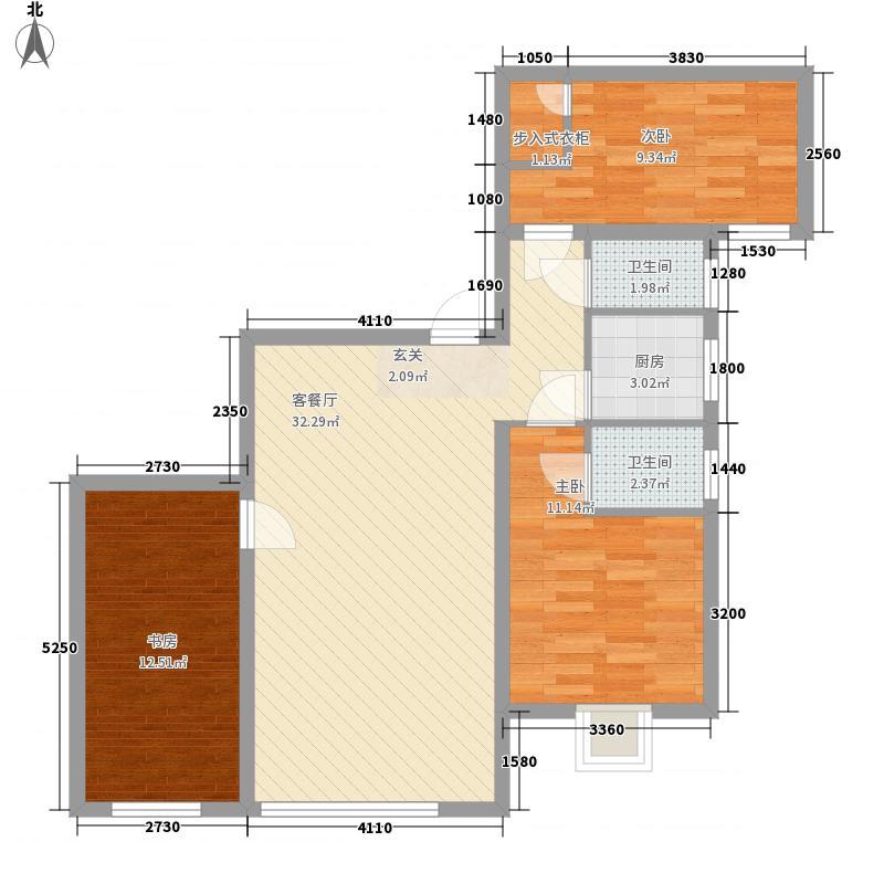 枫林雅苑105.00㎡枫林雅苑3室户型3室