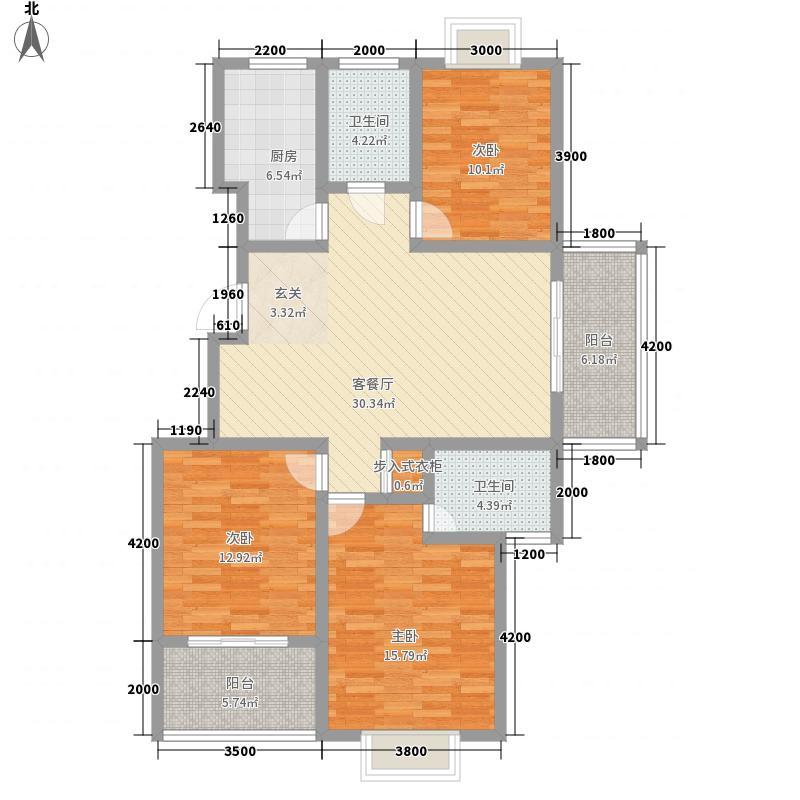 城建锦昌年华130.00㎡城建锦昌年华户型图C户型3室2厅2卫1厨户型3室2厅2卫1厨