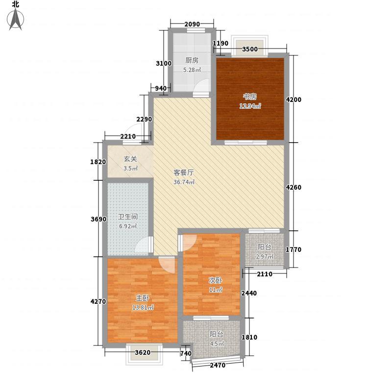 冠蒙・六合御庭134.22㎡19户型3室2厅1卫1厨