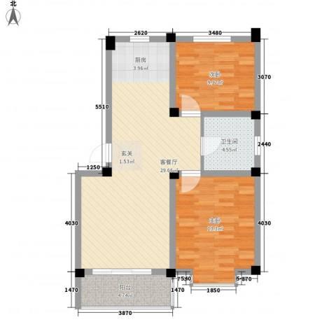 骏和天城2室1厅1卫0厨87.00㎡户型图