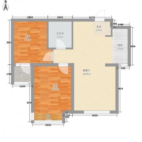 昊宇 山海湾2室1厅1卫0厨78.00㎡户型图