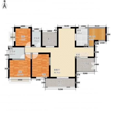 振业泊墅3室1厅2卫1厨143.00㎡户型图
