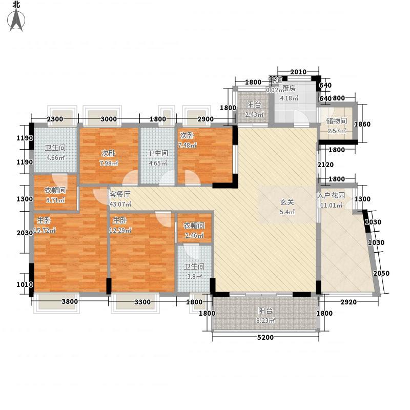 金色华庭二期 4室 户型图