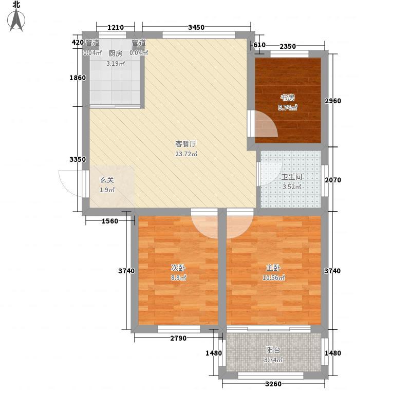 新和家园86.00㎡G户型3室2厅1卫1厨