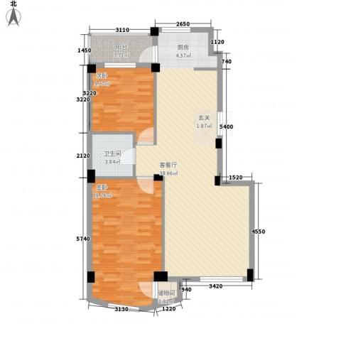 北欧假日三期2室1厅1卫0厨105.00㎡户型图