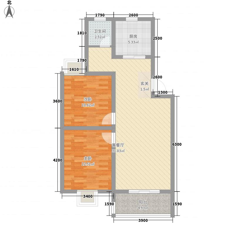 华顺・九狮水岸13-1户型3室2厅2卫1厨