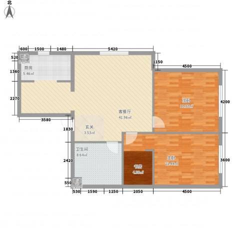 北欧假日三期2室1厅1卫0厨124.00㎡户型图